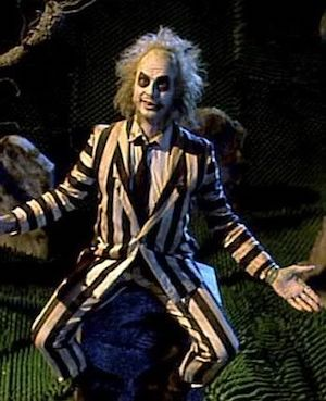 Striped Suit Pretty Geen Beetlejuice Navy