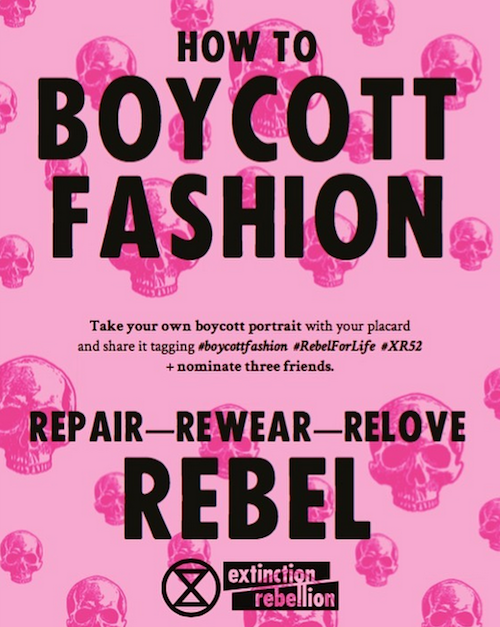 Extinction Rebellion Fast Fashion