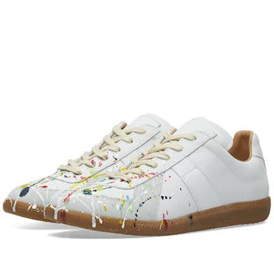 how to wear a milkshake Nigel Farage Brexit Party MARGIELA WHITE SNEAKERS