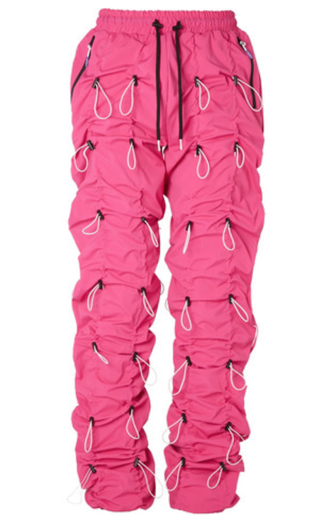 Menswear drawstring trouser toggle hot pink