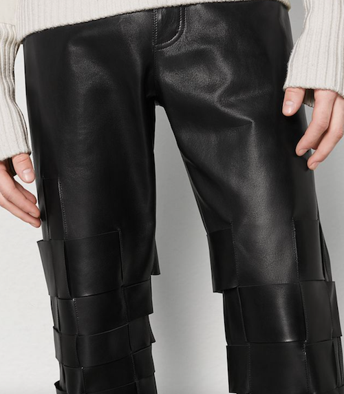 menswear product of the week daniel lee bottega veneta 2019 leather black trousers