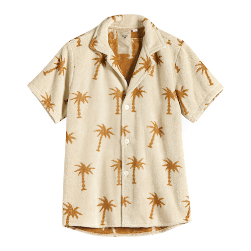 fashion menswear OAS towelling shirt palm trees