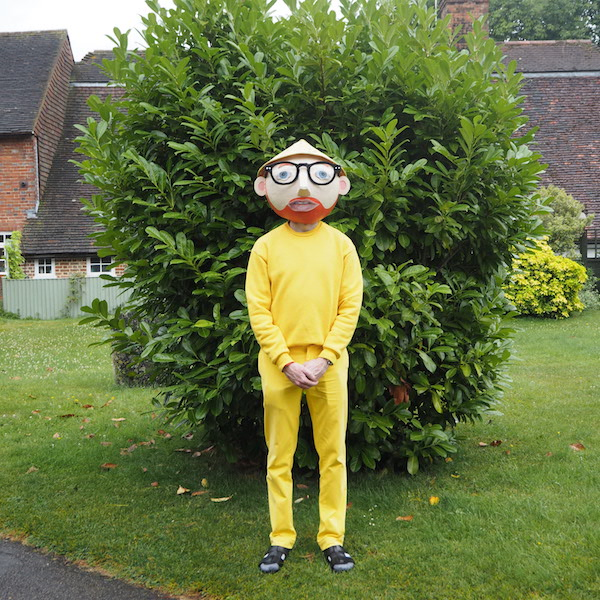 Menswear OOTD The Chic Geek Blogger American Apparel yellow polo ralph lauren trousers Falke socks sandals