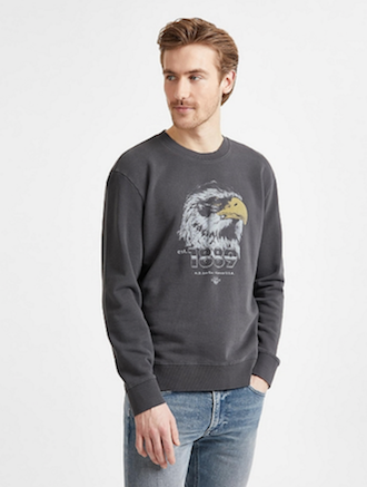menswear seasonal fashion round up lee jeans eagle sweatshirt