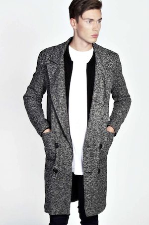 boohoo grey mens coat geek chic
