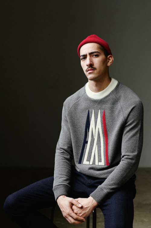 Moncler A sweatshirt oversized the chic geek