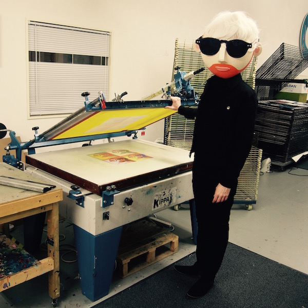 Andy Warhol screen printing geek
