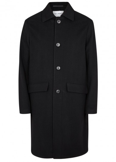 Black Men's Coat Our Legacy Harvey Nichols