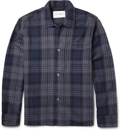Overshirt flannel shirt Our Legacy Mr Porter menswear