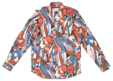 marni patterned shirt oki-ni