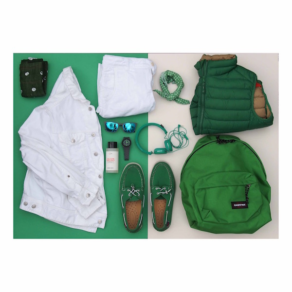 green white menswear flatlay ootd blogger the chic geek