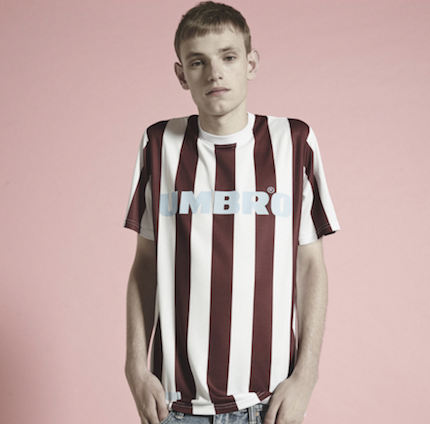 henry holland Umbro football shirt striped