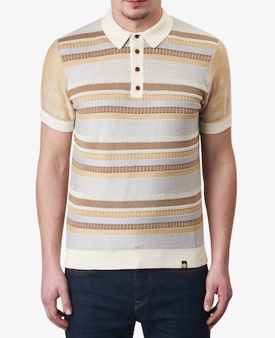 Knitted polo shirt Pretty Green menswear