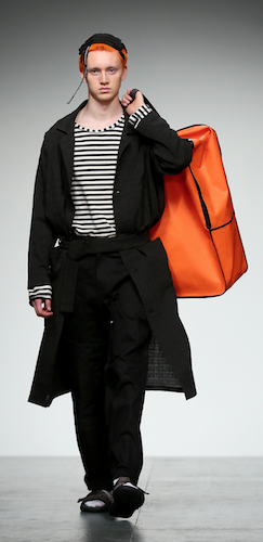 Large Orange Bag Menswear LFWM
