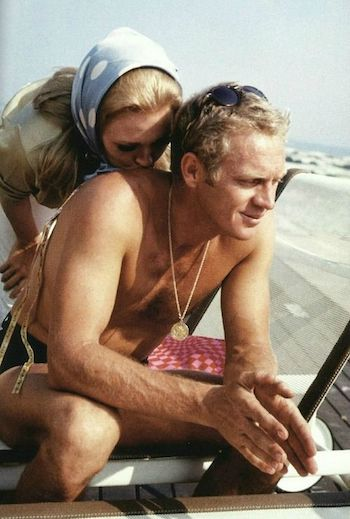 men's medallion necklaces silk shirts steve mcqueen