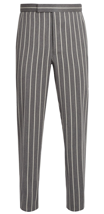 Grey pinstripe trousers Thom Browne Matchesfashion.com SS18 Top menswear of the season