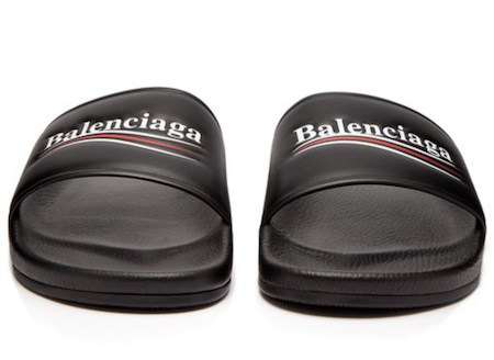 The rise of the sliders footwear category Balenciaga leather sliders