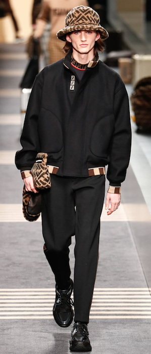 AW18 menswear trends Milan Fendi handbags