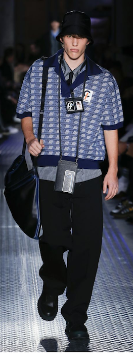 AW18 menswear trends Milan Prada looking like a tourist