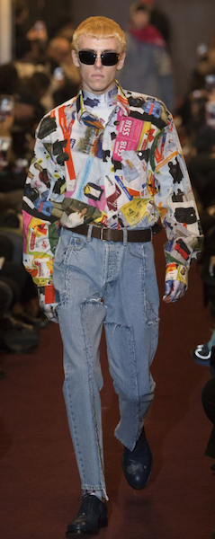 AW18 menswear trends Paris Vetements denim