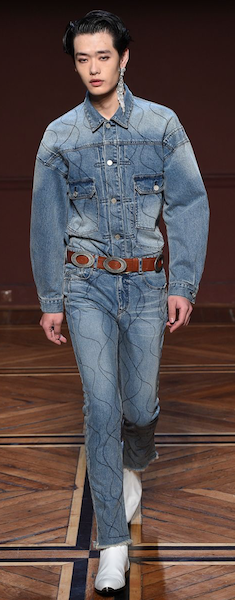 AW18 menswear trends Paris Dior Homme denim