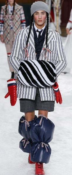 AW18 menswear trends Paris Thom Browne Leg Warmers