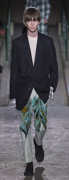 AW18 menswear trends Paris Dries van Noten Marble Effect