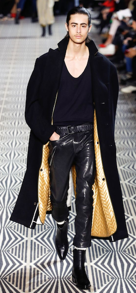 AW18 menswear trends Paris Haider Ackermann PVC