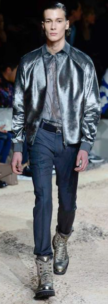 AW18 menswear trends Paris Louis Vuittom silver accessorises bag