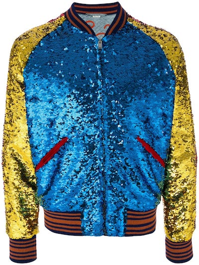 Men's sequins sequinned menswear Gucci