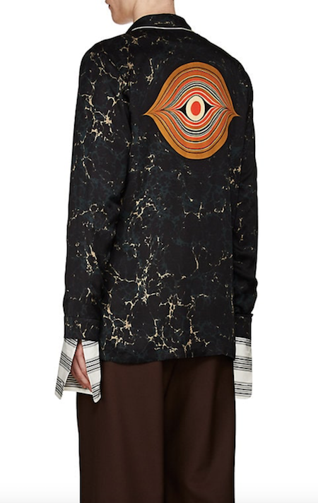 Dries van Noten satin evening jacket with eye menswear