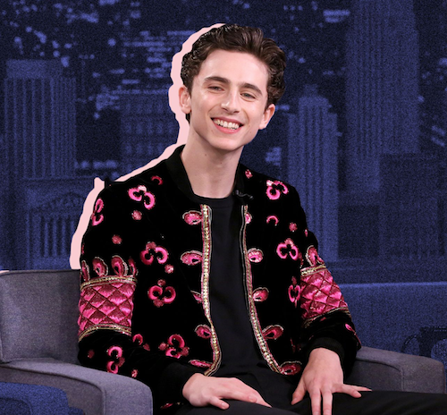 AW18 menswear trends Timothée Chalamet Saint Laurent
