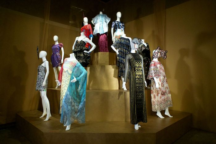 Zandra Rhodes 50 years of fabulous fashion textile museum exhibition