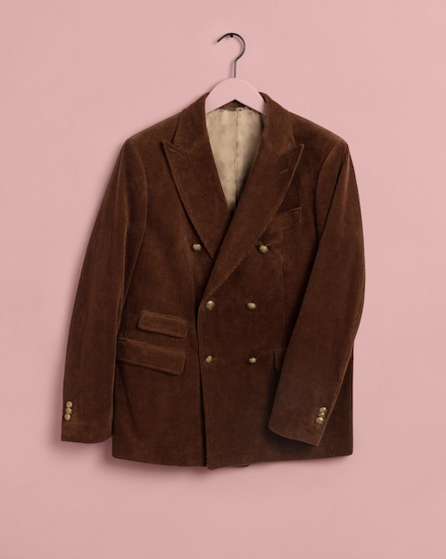Luke Edward Hall for Gant double breasted corduroy jacket