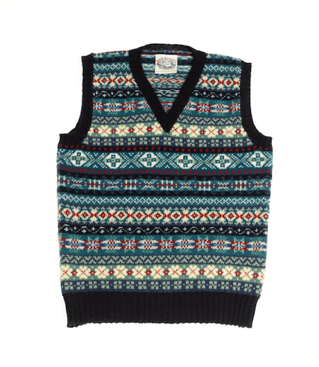 the dig film fair isle jumper