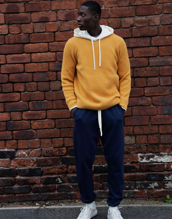 cut & pin knitwear new menswear brand recycled cashmere jumper